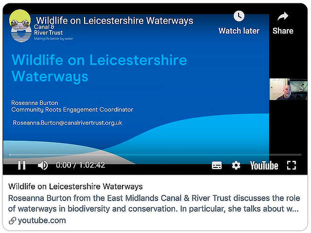 Wildlife on Leicestershire Waterways